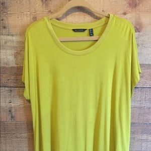 H by Halston Scoop Neck Knit Top Large Lime Green